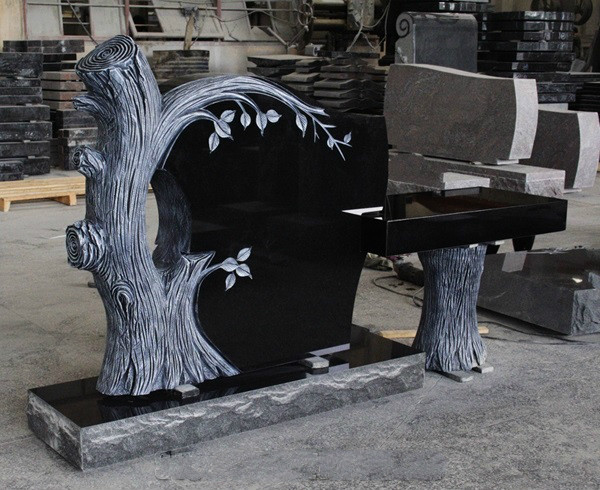 China Jet Black Granite American Tree Monument