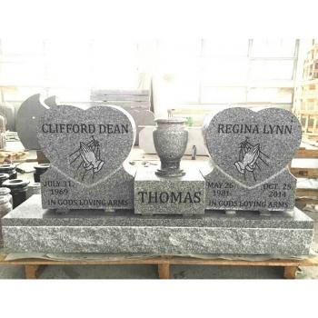 China Grey Granite American Style Double Monument