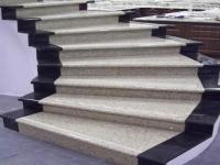 G682 Yellow&China Black Granite Stair