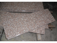 Cheapest G687 Peach Red Granite Polished Stairs