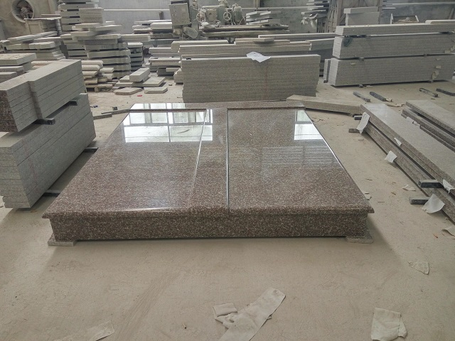 Coffee Pink G664 Granite Double Tombstone