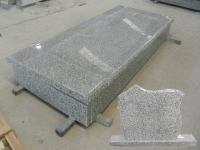 Bianco Tarn G623 Granite Single Tombstone