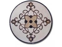 Interior Stone Waterjet Floor Medallion