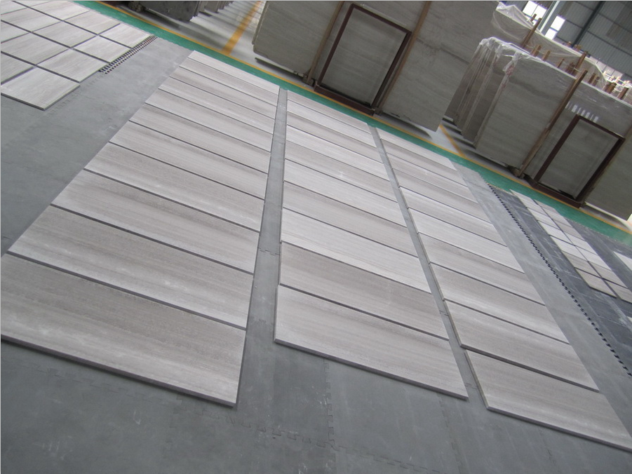 White Wooden Vein Marble Tiles