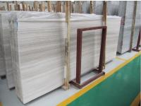 White Wooden Vein Marble Slabs