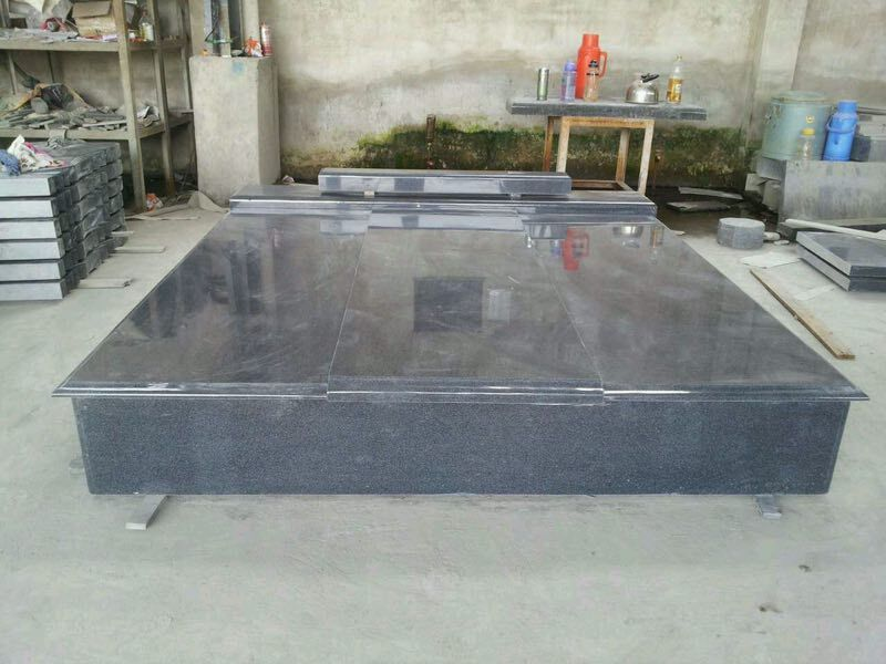 G654 Gravestone, Padang Dark Tombstone, Dark Grey Monument