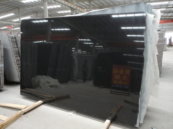 China Black Granite Slab For Tombstone And Wall